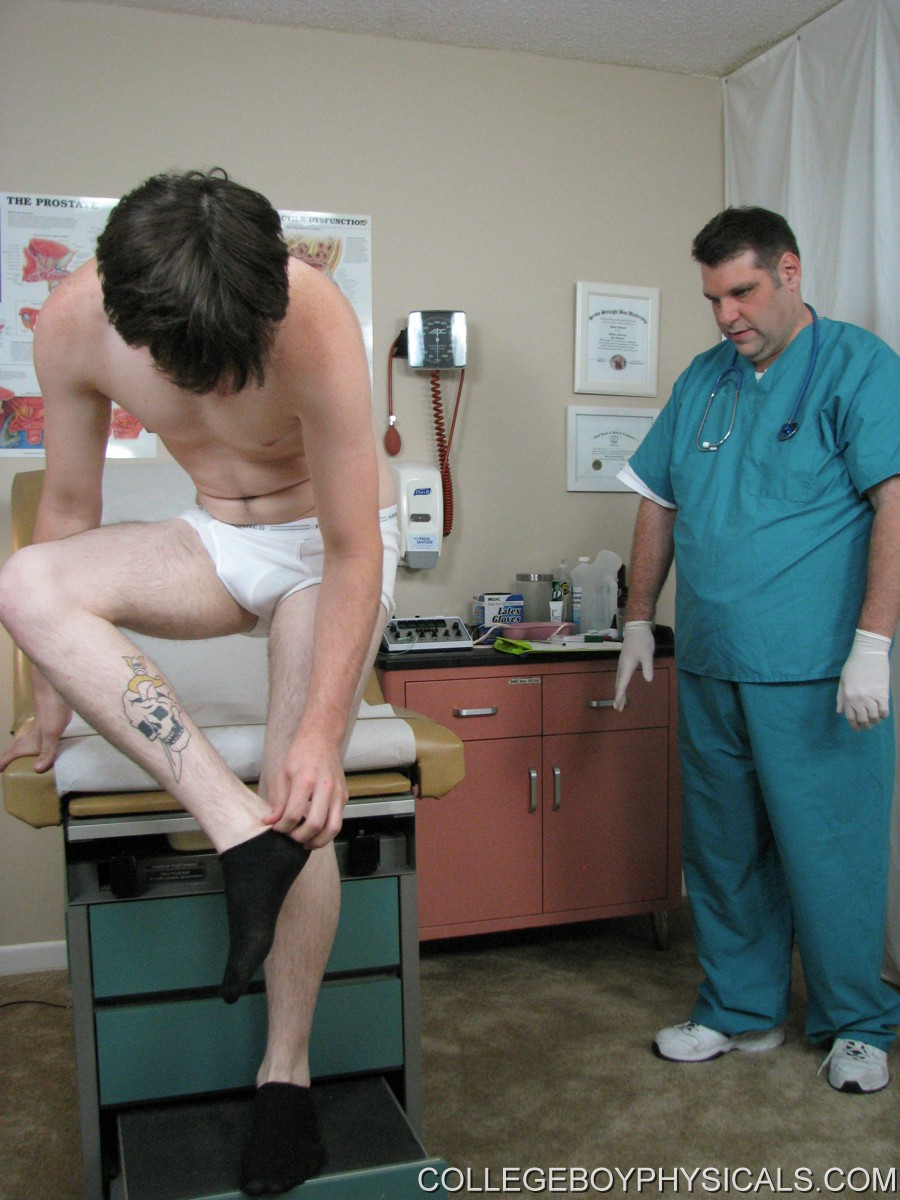 College men getting physical exam and old 9